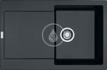 Franke Maris Fragranitový dřez MRG 611, 780x500 mm, onyx 114.0284.833