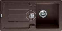 Franke Strata Fragranitový dřez STG 614, 860x435 mm, tmavě hnědá 114.0263.992