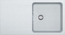 Franke Orion Tectonitový dřez OID 611, 940x510 mm, bílá 114.0288.541