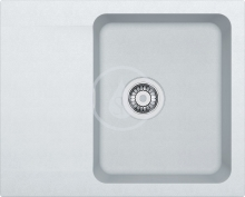 Franke Orion Tectonitový dřez OID 611-62, 620x500 mm, bílá 114.0288.566