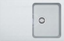 Franke Orion Tectonitový dřez OID 611-78, 780x500 mm, bílá 114.0288.585