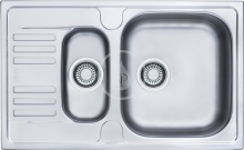 Franke Euroform Nerezový dřez EFN 651-78, 780x475 mm + sifon 101.0250.587