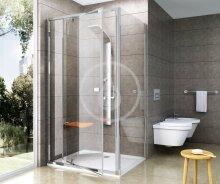 Sprchová stěna PPS-90, 870-895 mm, satin/čiré sklo