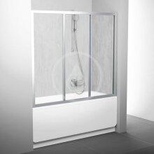 Vanové dveře třídílné AVDP3-120, 1170-1210 mm, satin/Rain