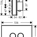 Termostatická baterie pod omítku pro 2 spotřebiče, černá/chrom