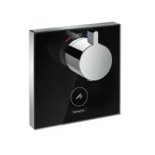 Highflow termostat pod omítku pro 1 spotřebič a jeden dodatečný vývod, černá/chrom