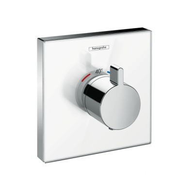 Highflow termostat pod omítku, bílá/chrom