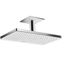 Horní sprcha 460 1jet se stropním přípojem 100 mm, bílá/chrom