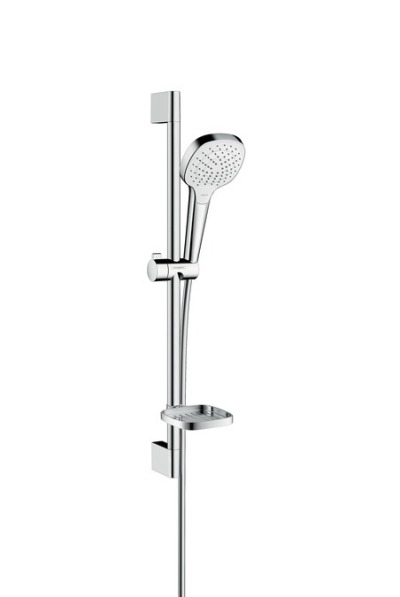 Sprchová souprava Vario 0,65m s mýdlenkou Casetta, bílá/chrom