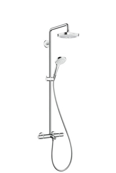 Sprchová souprava 180 2jet Showerpipe pro vanu, bílá/chrom