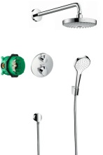 Hansgrohe Croma Select S Sprchový set 180 s termostatem Ecostat S, 2 proudy, chrom 27295000