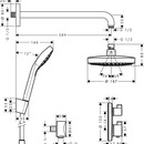 Designová sprchová souprava Ecostat S, chrom