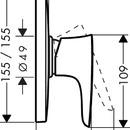 Páková sprchová podomítková Highflow baterie, chrom