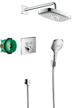 Hansgrohe Raindance Select E Sprchový set 300 s termostatem ShowerSelect, 2 proudy, chrom 27296000