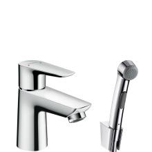 Hansgrohe Talis E Umyvadlová baterie s ruční sprchou Bidette, chrom 71729000