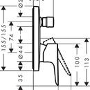 Páková vanová podomítková baterie s bezpečnostní kombinací, chrom