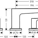 Tříotvorová vanová baterie, chrom