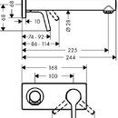 Páková umyvadlová podomítková baterie s výtokem 225 mm, chrom