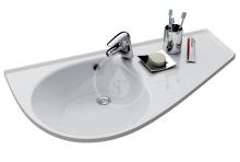 Umyvadlo Comfort 950x530 mm, odkládací plocha vlevo, bílá