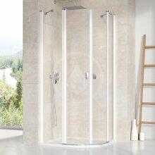 Čtvrtkruhový sprchový kout CSKK4-80, 780-800 mm, bílá/čiré sklo