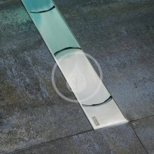 Sprchový odtokový žlab 950 mm, do prostoru, nerez
