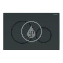 Geberit Sigma20 Ovládací tlačítko pro 2 množství splachování, černá/černá mat 115.882.DW.1