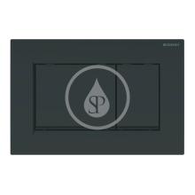 Ovládací tlačítko pro 2 množství splachování, černá/černá mat