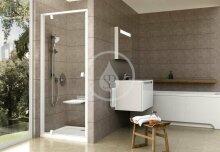 Sprchové dveře PDOP1-80, 761-811 mm, bílá/čiré sklo