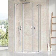 Čtvrtkruhový sprchový kout CSKK4-80, 780-800 mm, satin/čiré sklo