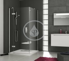 Sprchová stěna SMPS-80 L, 785-800 mm, levá, chrom/čiré sklo