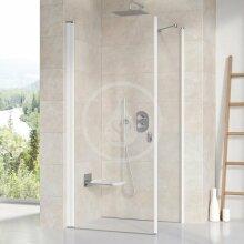 Sprchová stěna pevná CPS-80, 780-800 mm, bílá/čiré sklo