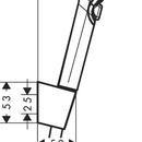 Sprchová souprava Vario 9 l/min. s držákem Porter, 1600 mm, bílá/chrom