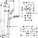 Sprchová souprava Vario Ecostat 1001CL Combi, 900 mm, bílá/chrom
