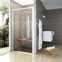 Sprchové dveře PDOP2-100, 961-1011 mm, bílá/chrom/čiré sklo