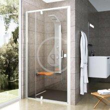 Sprchové dveře PDOP2-110, 1061-1111 mm, bílá/čiré sklo