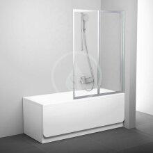Vanová zástěna skládací dvoudílná VS2 105, 1045x1400 mm, satin/transparentní sklo