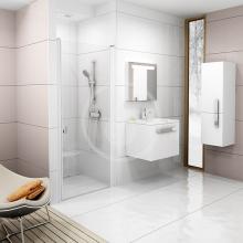 Sprchové dveře jednodílné CSD1-80, 775-805 mm, bílá/čiré sklo