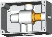 Ideal Standard Termostatický připojovací box pro směšování teploty (univerzální použitelný se všemi sensorovými bateriemi), neutrální A3813NU