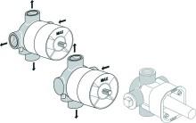 Ideal Standard Podomítkový díl 1 pro vícecestné ventily 3/2, neutrální A2393NU