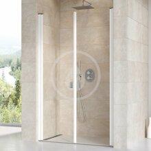 Sprchové dveře dvoukřídlé CSDL2-120, 1175-1205 mm, bílá/čiré sklo
