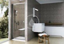 Sprchové dveře PDOP1-80, 761-811 mm, satin/čiré sklo