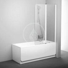 Vanová zástěna dvoudílná CVS2-100 R, 990x1500 mm, pravá, bílá/čiré sklo