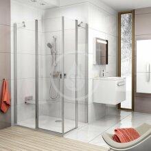Sprchové dveře CRV2-80, 780-800 mm, lesklý hliník/čiré sklo