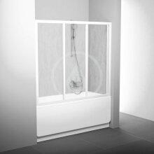 Vanové dveře třídílné AVDP3-120, 1170-1210 mm, bílá/Rain