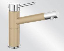 Blanco ALTA Compact Silgranit-look dvoubarevná béžová champagne/chrom 515319