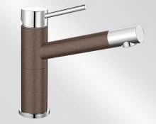 Blanco ALTA Compact Silgranit-look dvoubarevná kávová/chrom 515324