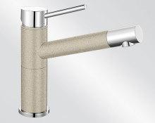 Blanco ALTA Compact Silgranit-look dvoubarevná písek/chrom 515320