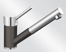Blanco ANTAS-S HD Silgranit-look dvoubarevná antracit/chrom 515356