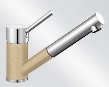 Blanco ANTAS-S HD Silgranit-look dvoubarevná béžová champagne/chrom 515352