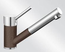 Blanco ANTAS-S HD Silgranit-look dvoubarevná kávová/chrom 515357